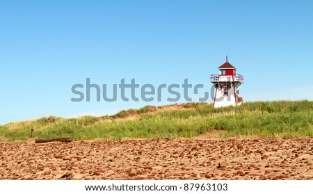 A lighthouse in Prince Edward Island, Canada - stock photo