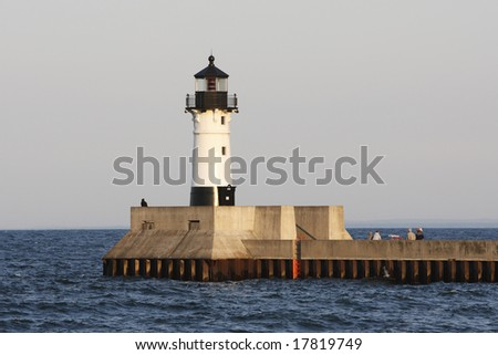 A lighthouse on Lake Superior, in Minnesota.