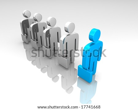 a line of business pictograms - stock photo