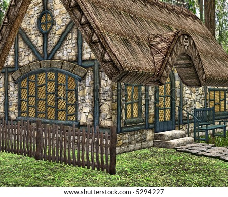 A Little Fairy Tale Cottage In The Woods