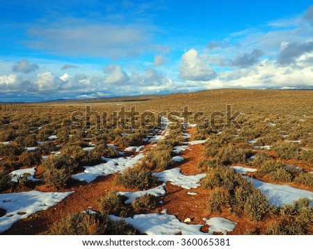 A little used two-track road on a ranch. - stock photo