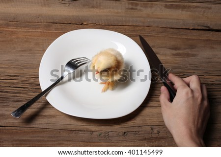 how to use fork and knife to eat chicken