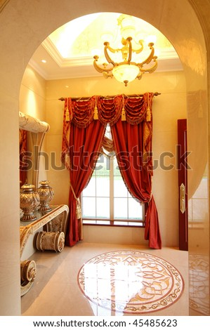 a living room in classical european style - stock photo
