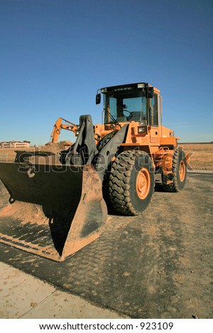 A Loader Tractor - stock photo