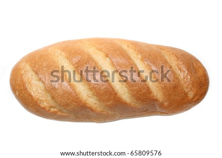 A loaf of bread on a white background - stock photo