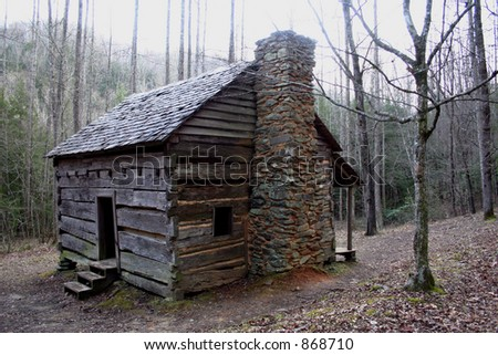 A log cabin. - stock photo