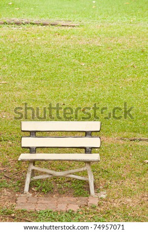A Lonely bench in the park