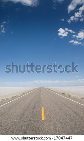 A long and lonely road Shot2 - stock photo