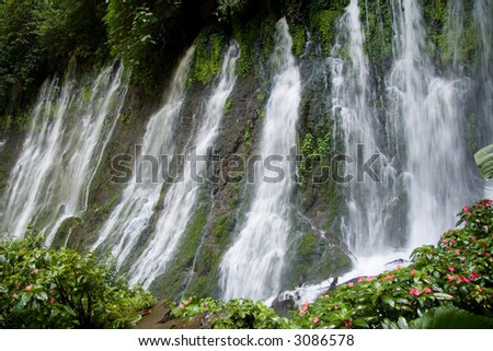 A long exposure of the Juayua waterfalls in El Salvador