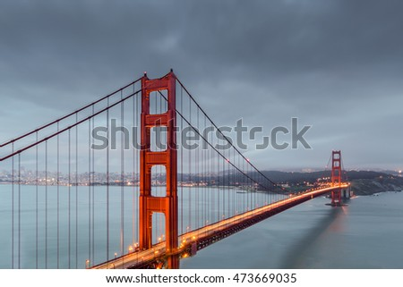 A long exposure picture of the Golden Gate Bridge