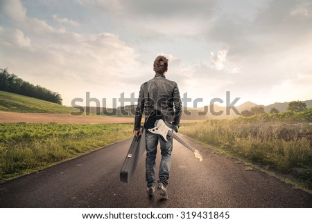 A long journey - stock photo