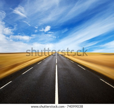 a long the road - stock photo