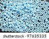 a  lot of beads isolated on black - stock photo