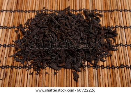 a lot of black tea background - stock photo