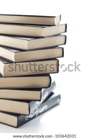 a lot of books - stock photo