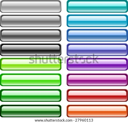 A lot of buttons. Raster version. - stock photo
