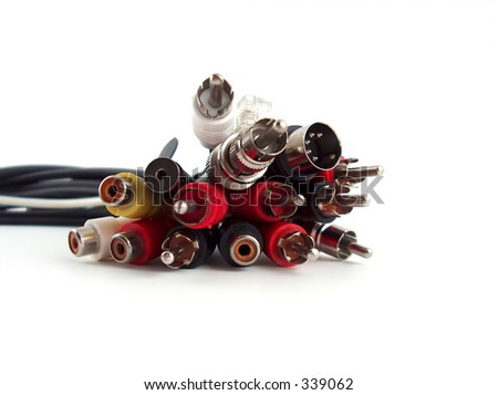 a lot of cables - stock photo