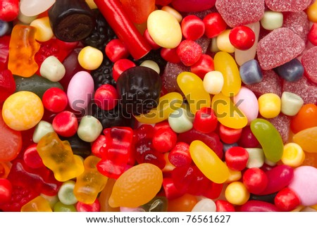 A lot of candies for background