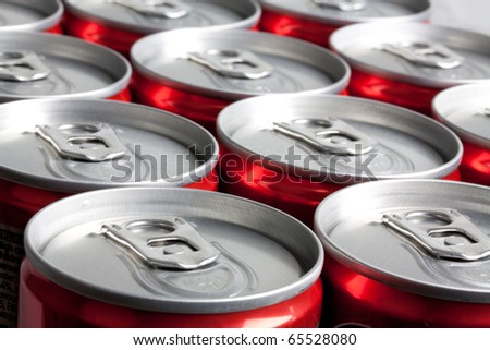 A lot of cans - stock photo