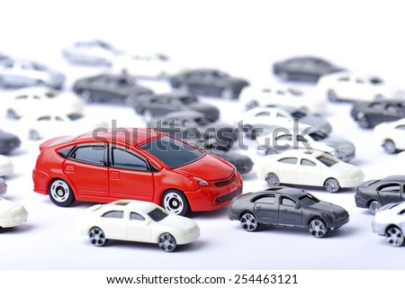 A lot of car - stock photo