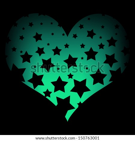 Neon Hearts And Stars Background of Hearts Neon