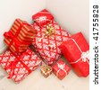 A lot of christmas presents - stock photo
