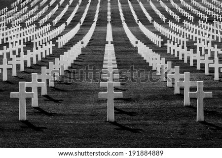 A lot of crosses - stock photo