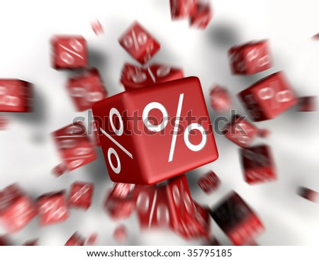 a lot of cubes falling together - stock photo
