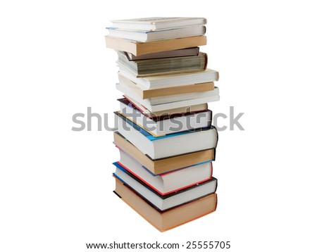 a lot of different books stacked together
