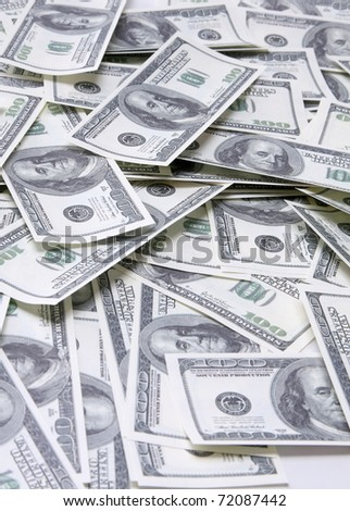 A lot of dollars - stock photo