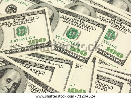 A lot of dollars can be used for background - stock photo
