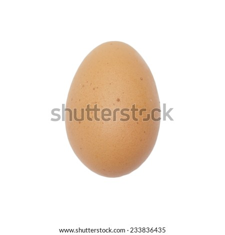 a lot of egg on white - stock photo
