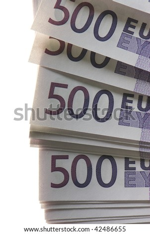 a lot of Euro banknotes money - stock photo
