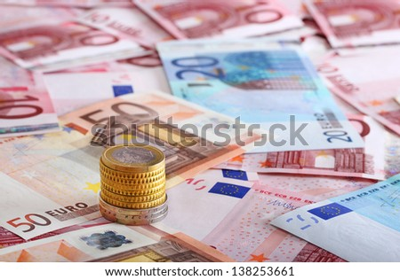 a lot of euro for background  - stock photo