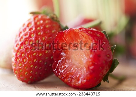 a lot of fresh strawberry