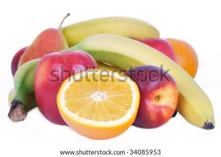 A lot of fruits