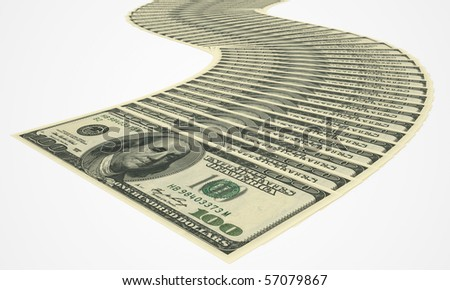 A lot of money and big profits - stock photo
