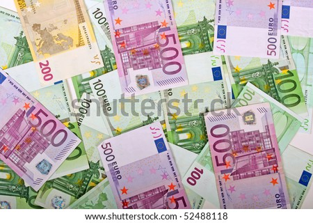 A lot of money texture. Euro. - stock photo
