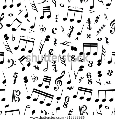 Music Signs Note On White Background Stock Vector 306524594 ...