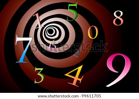 A lot of numbers on a beautiful art background. - stock photo