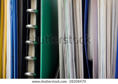 A lot of papers, documents and file folders - stock photo