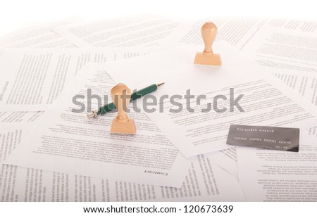 A lot of paperwork - stock photo