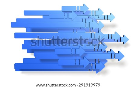 A lot of right-pointing arrow.computer generated image. - stock photo
