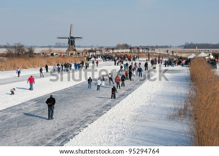 a lot of skaters have fun by the mill tour - stock photo