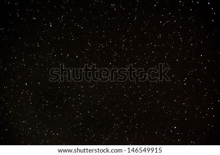 a lot of stars in sky at night - stock photo