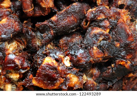 a lot of tamarind for background use - stock photo