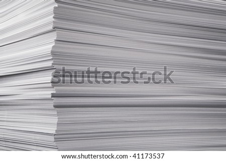 A lot of the pure paper, combined in a greater tower's - stock photo