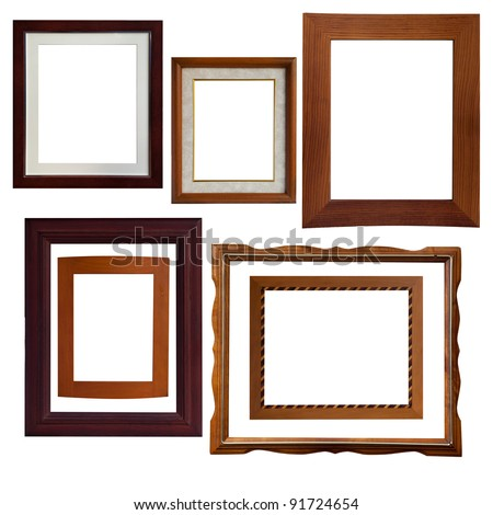 A lot of type isolate wood frame - stock photo