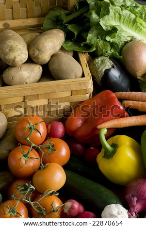 A lot of vegetables - stock photo