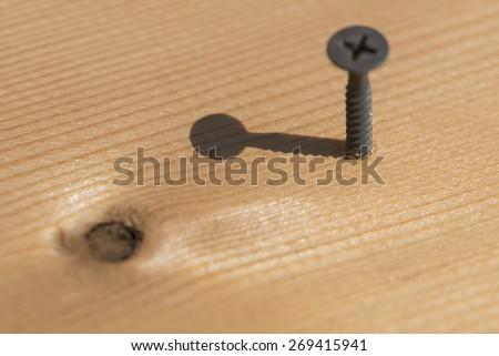 A lot of Wood screws, macro shots - stock photo